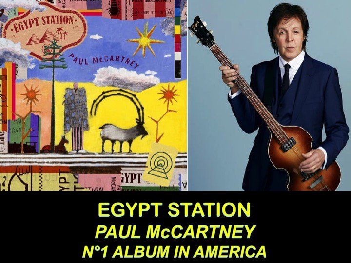 #PaulMcCartney Scores 1st N°1 Album in Over 36 Years on the Billboard 200 Chart With #EgyptStation! 👏1⃣💿🇺🇸👨🎤👑 https://t.co/wMnx7cH9vH