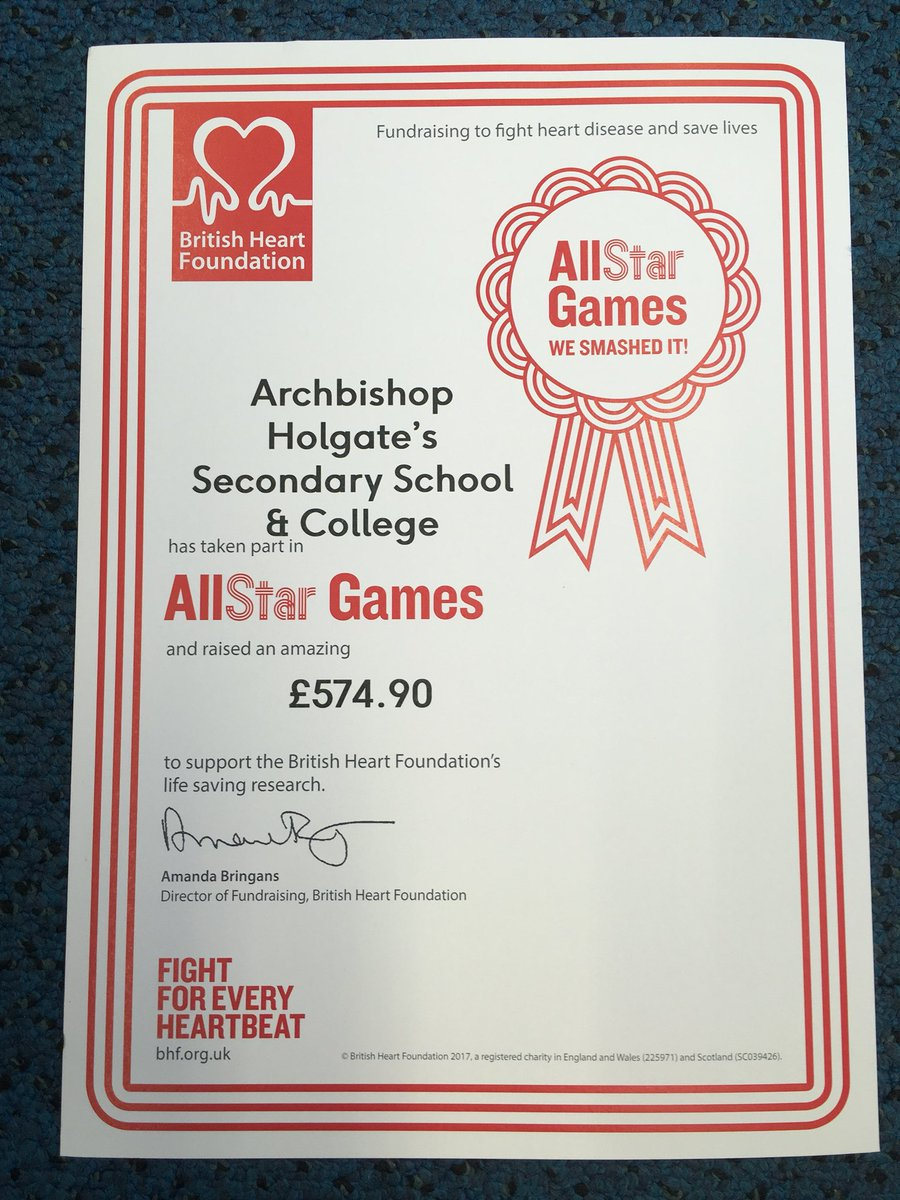 Ahs Pe On Twitter Fantastic To Receive The Certificate From