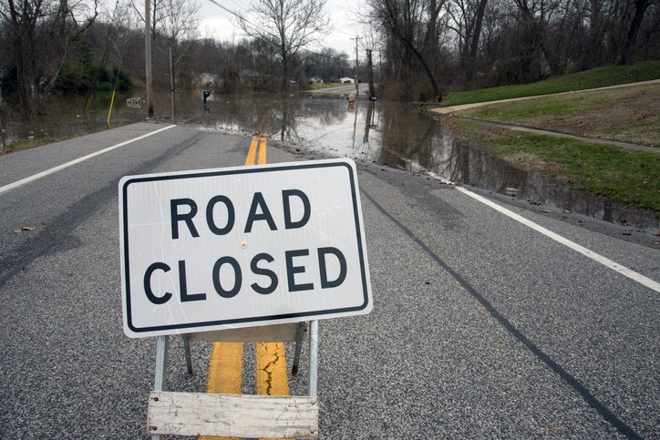 If you must drive in bad weather, map out 🗺️ safe routes in advance and check ✅ road conditions. Your GPS will not necessarily avoid flooded areas - talk to local contacts about road conditions and road closures before traveling. #Florence