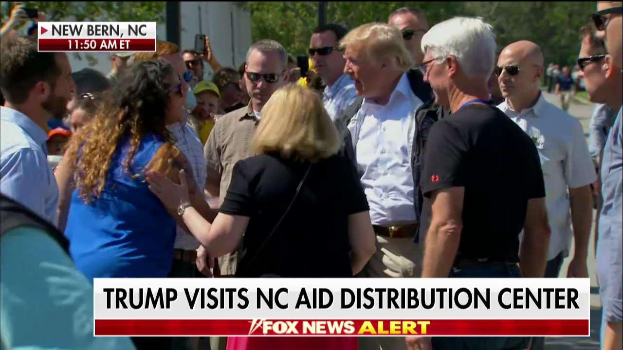 President @realDonaldTrump Visits NC Aid Distribution Center https://t.co/jjXmMLEkAw