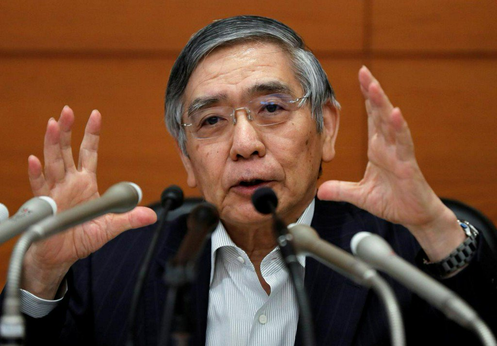 BOJ's Kuroda warns of trade perils, echoes Abe on exiting easy policy https://t.co/aJ8DrV0On6 https://t.co/u5AreCbXI5