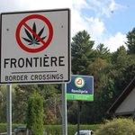 Image for the Tweet beginning: Signs warning motorists that marijuana