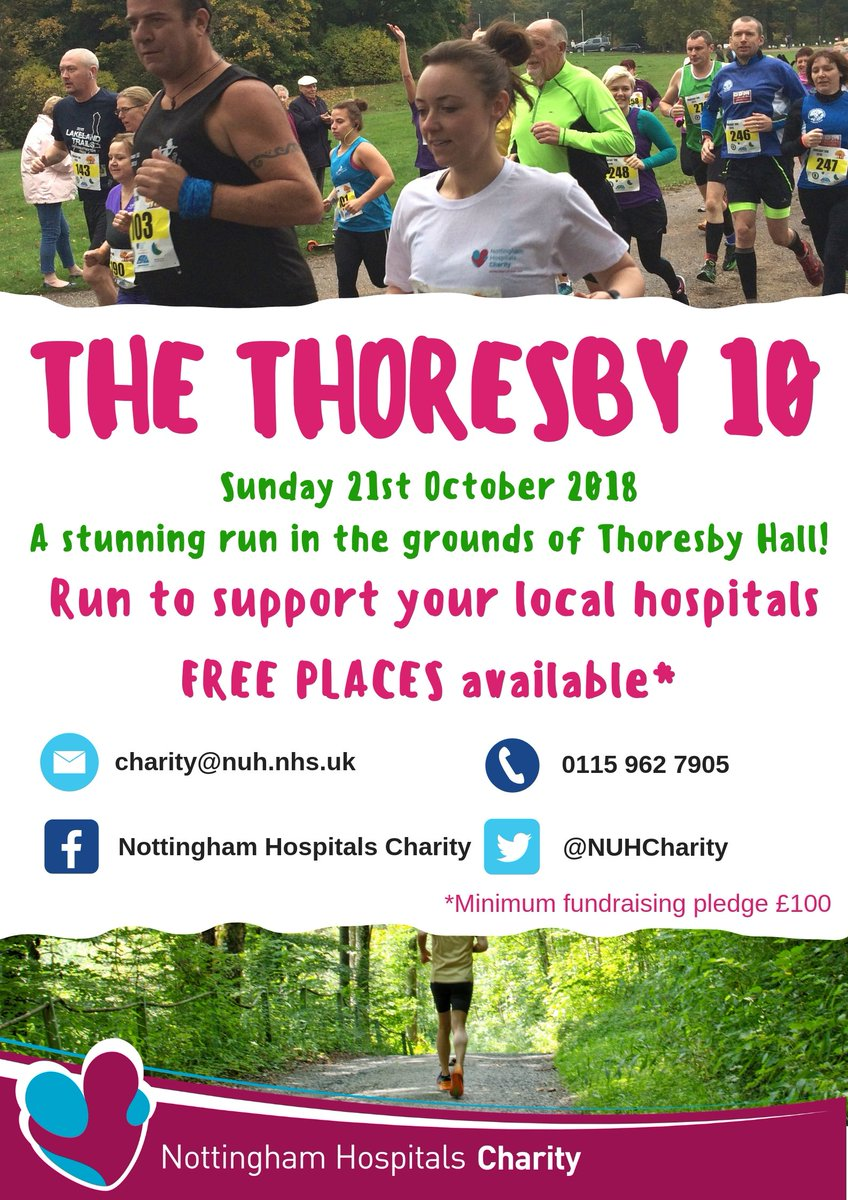 NUH Charity On Twitter We Have FREE PLACES Available For The 5k