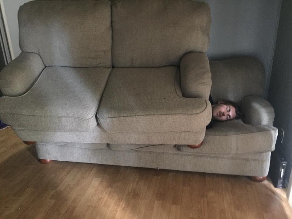 when u at ur friends house and they don't give u a blanket