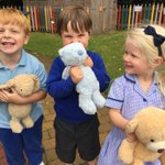 A little bit of rain didn't stop these teddies from coming to Kindergarten's Teddy Bears' picnic today. #LongacreLife #earlyyears #EYFS