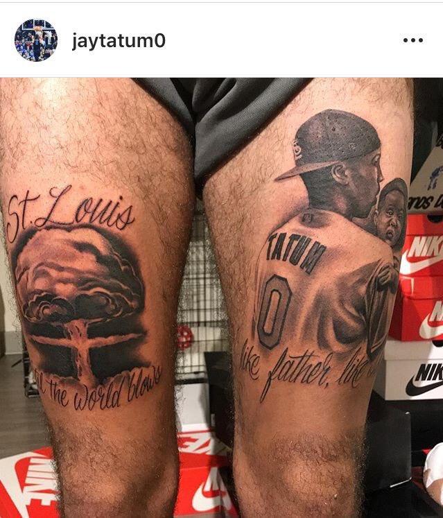 Jayson Tatum Tattoo Of Himself Best Tattoo Ideas