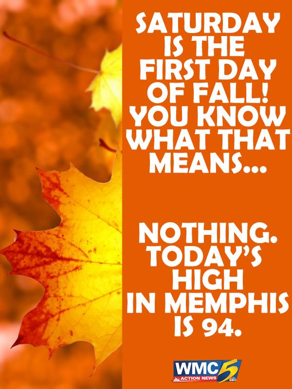 Fall is almost here! ...I guess. #wmc5