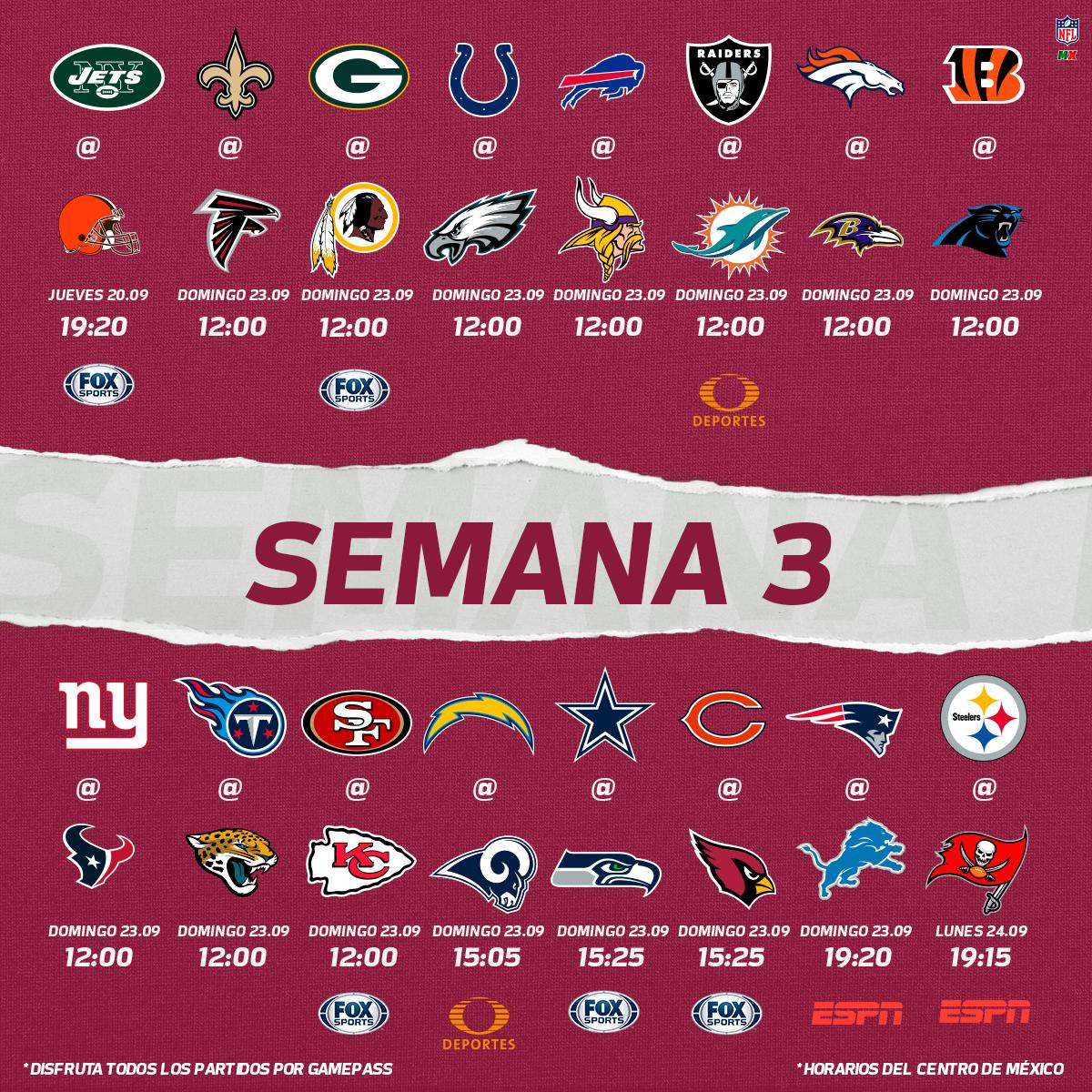 Nfl Calendario.Nfl Mexico On Twitter Aqui Esta El Calendario De La