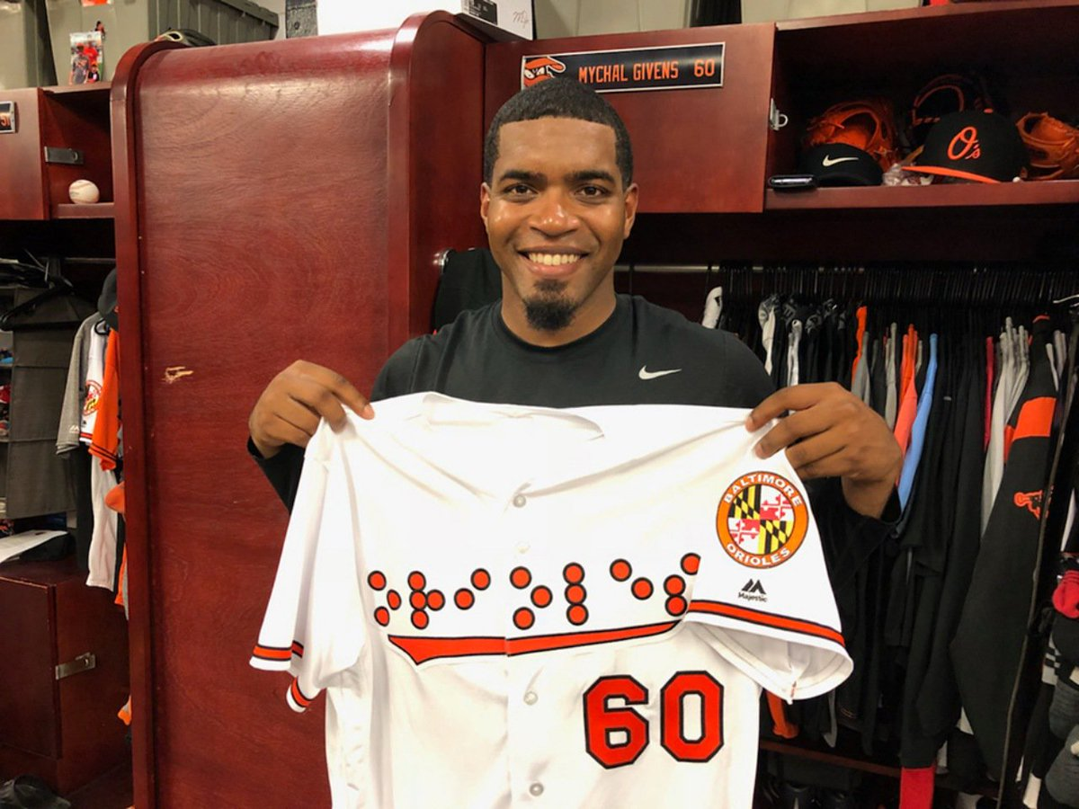 7bc701c5424 Braille jerseys at Camden Yards met with praise and criticism