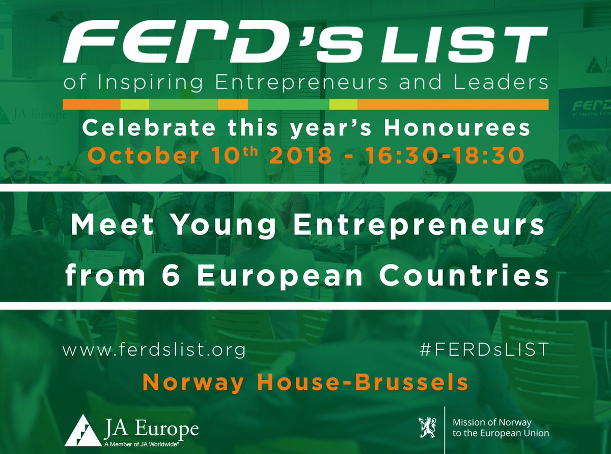Delighted to have @jamesstevens @RudPedersen_EU to meet with some of the best #JAAlumni in Europe at #FERDSLIST ceremony. Let's celebrate the impact of #entrepreneurship #education ! #OneJA #JA100 #SwitchOnEurope  https://t.co/9fq1wWMSr5