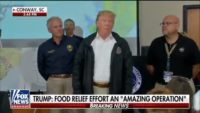 .@POTUS makes remarks on Hurricane Florence relief efforts in Conway, S.C. https://t.co/vQ75JTSYJD https://t.co/sCbegSNKN8