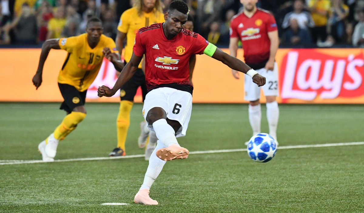 Young Boys vs Man Utd:  Most touches - Paul Pogba Highest pass completion rate - Paul Pogba Most passes - Paul Pogba Most key passes - Paul Pogba Highest tackle success rate - Paul Pogba Most shots on target - Paul Pogba Most goals - Paul Pogba  Unleashed.