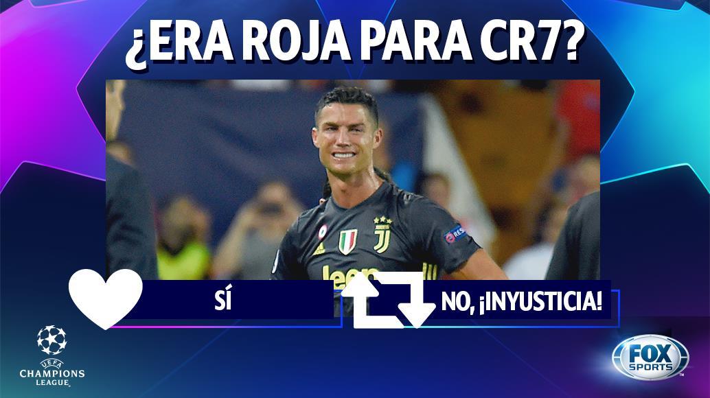 ¿ESTUVO BIEN EXPULSADO CRISTIANO?  #ChampionsxFOX | CR7 vio la roja en el primer tiempo de Juventus vs. Valencia. ¿Qué te pareció?  🔁 No era roja 💓 Bien expulsado
