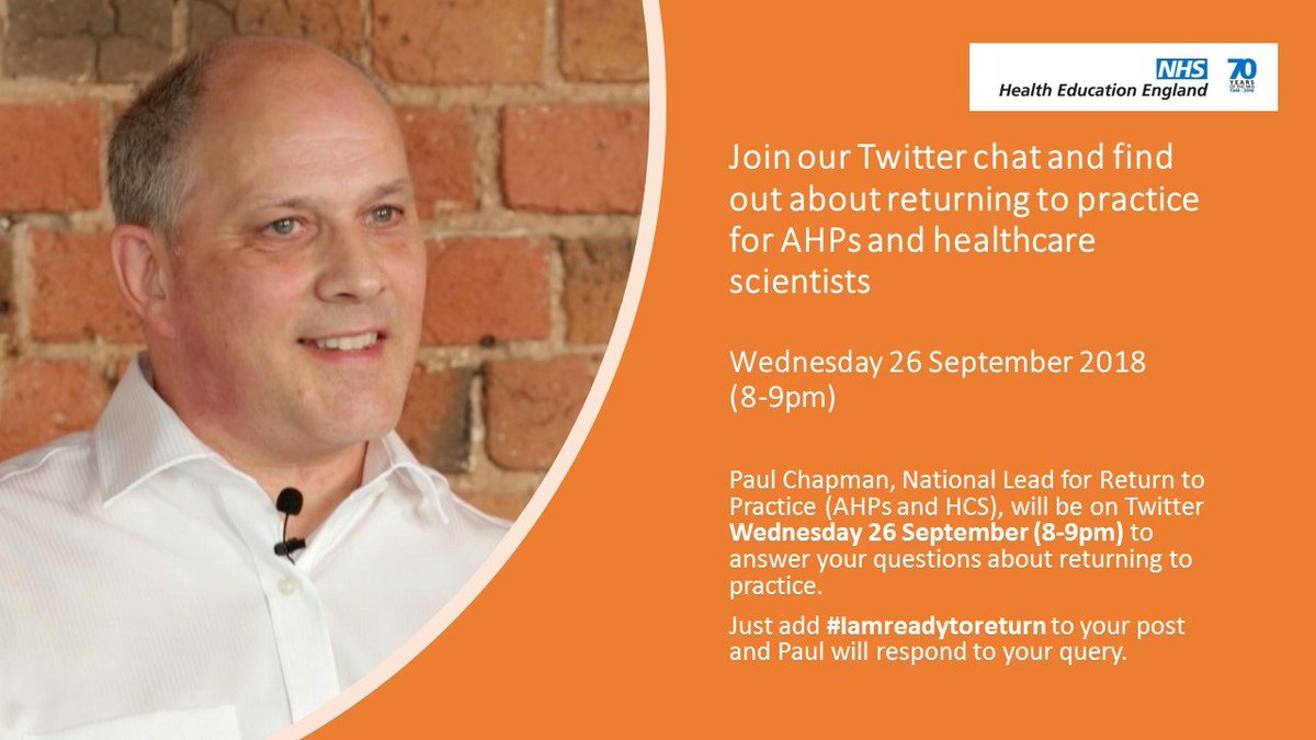 If you are new to Twitter or haven't joined a Twitter chat before, you may find our guidance useful https://t.co/k59WMWD6bV #Iamreadytoreturn #AHPsintoaction