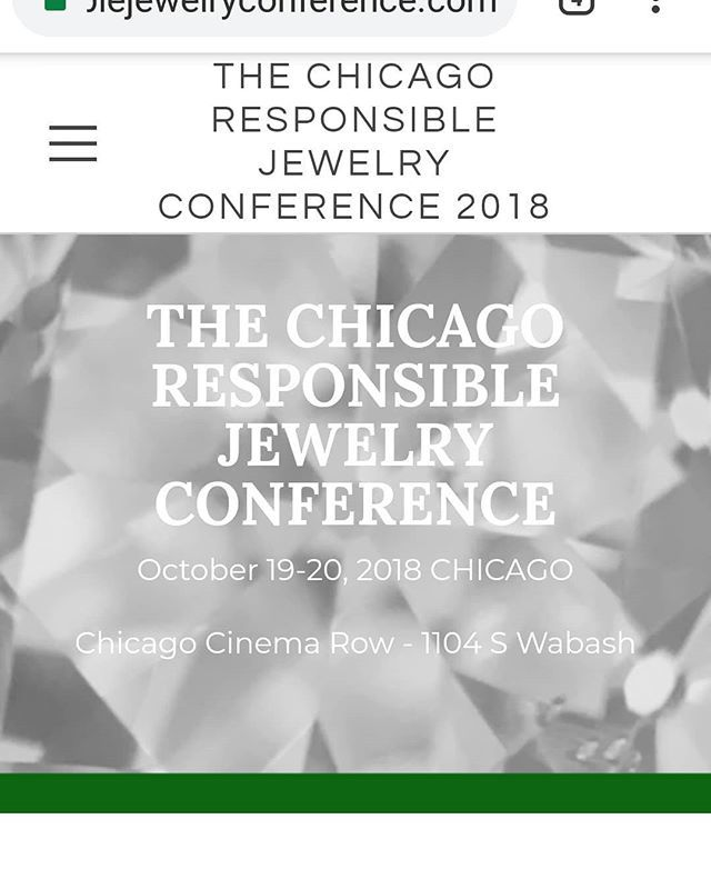 ... the Responsible Jewelry Conference in Chicago next month. A number of gemstone vendors (including myself and … https://www.instagram.com/p/Bn6eIhfnvl_/ ...