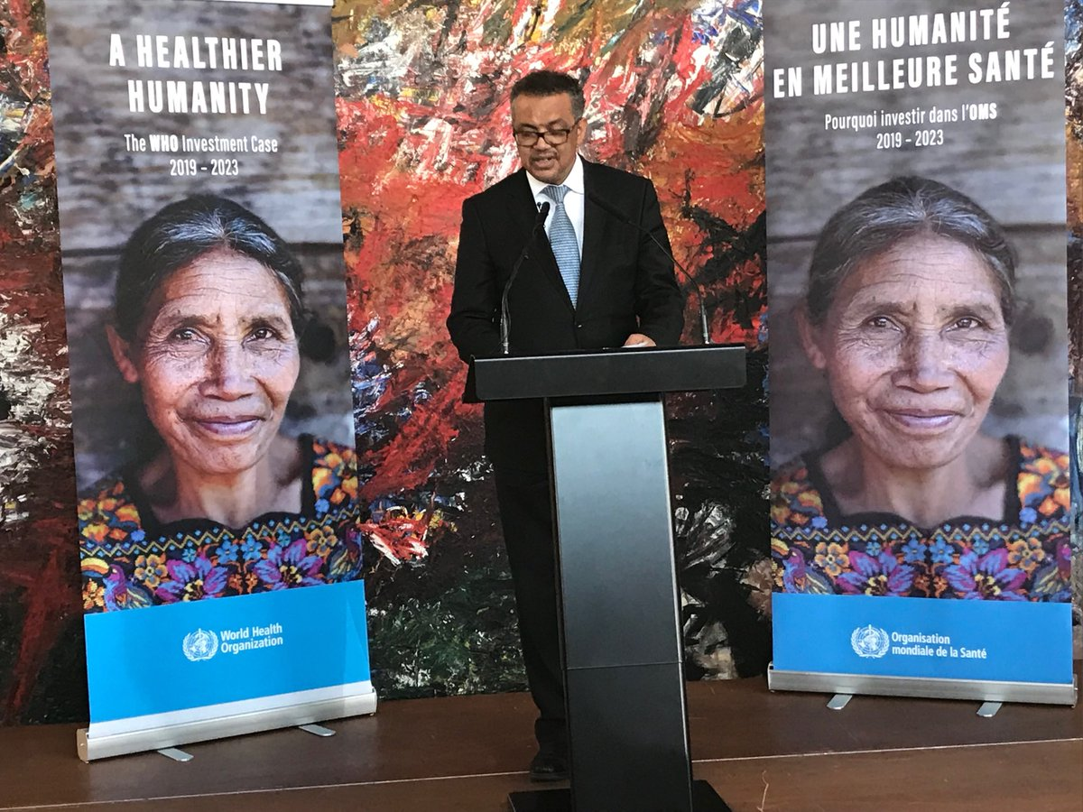 """This is a historic day"" says ⁦@DrTedros⁩ launching first ever ⁦@WHO⁩ investment case https://t.co/aO03Hz19aL"