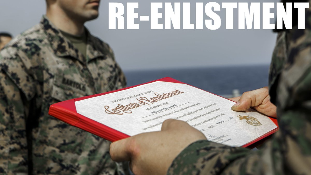 Re-enlisting comes with benefits. Visit your career planner today.