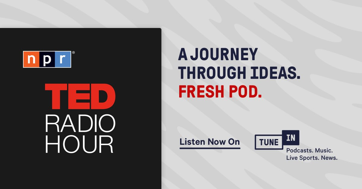 Join NPR's Guy Raz for a journey through big ideas, astonishing inventions, and fresh ways to think and create on the @TEDRadioHour podcast. Certified as a Fresh Pod by the TuneIn Editors. https://listen.tunein.com/freshpodted