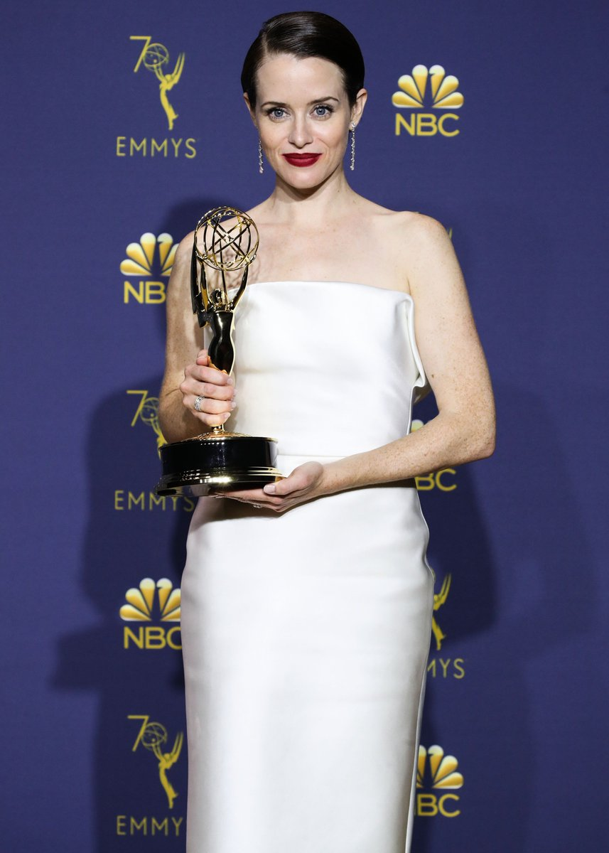 Have you heard? Emmy has finally won a Claire Foy! #Emmys