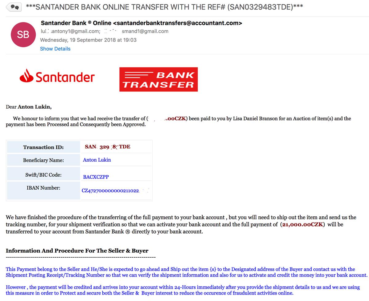 Santander Bank Iban Number