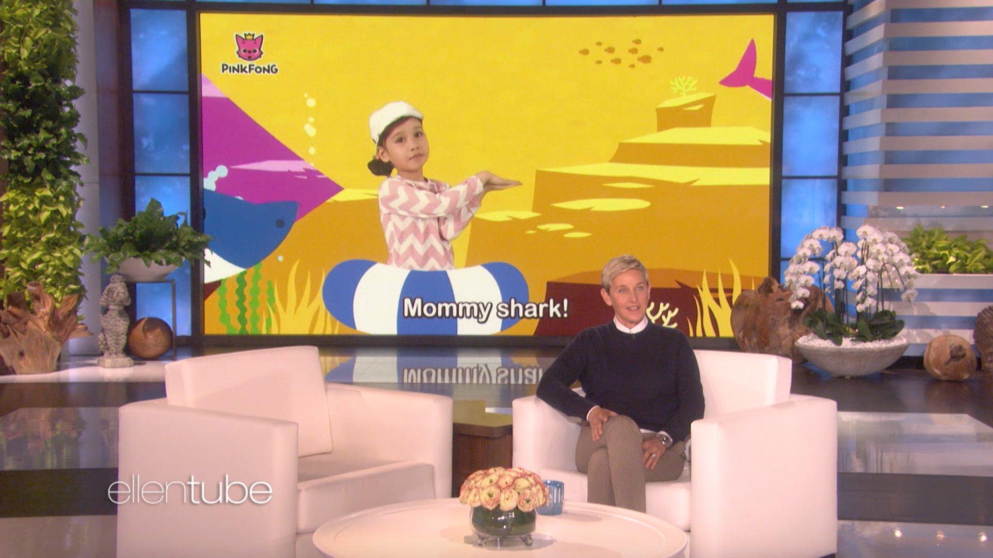 Baby Shark do do do do do. Ellen Show do do do do do. https://t.co/P5NAQtb29s