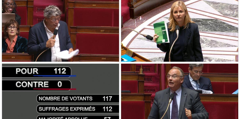 Image for the Tweet beginning: Historique : l'Assemblée nationale trouve