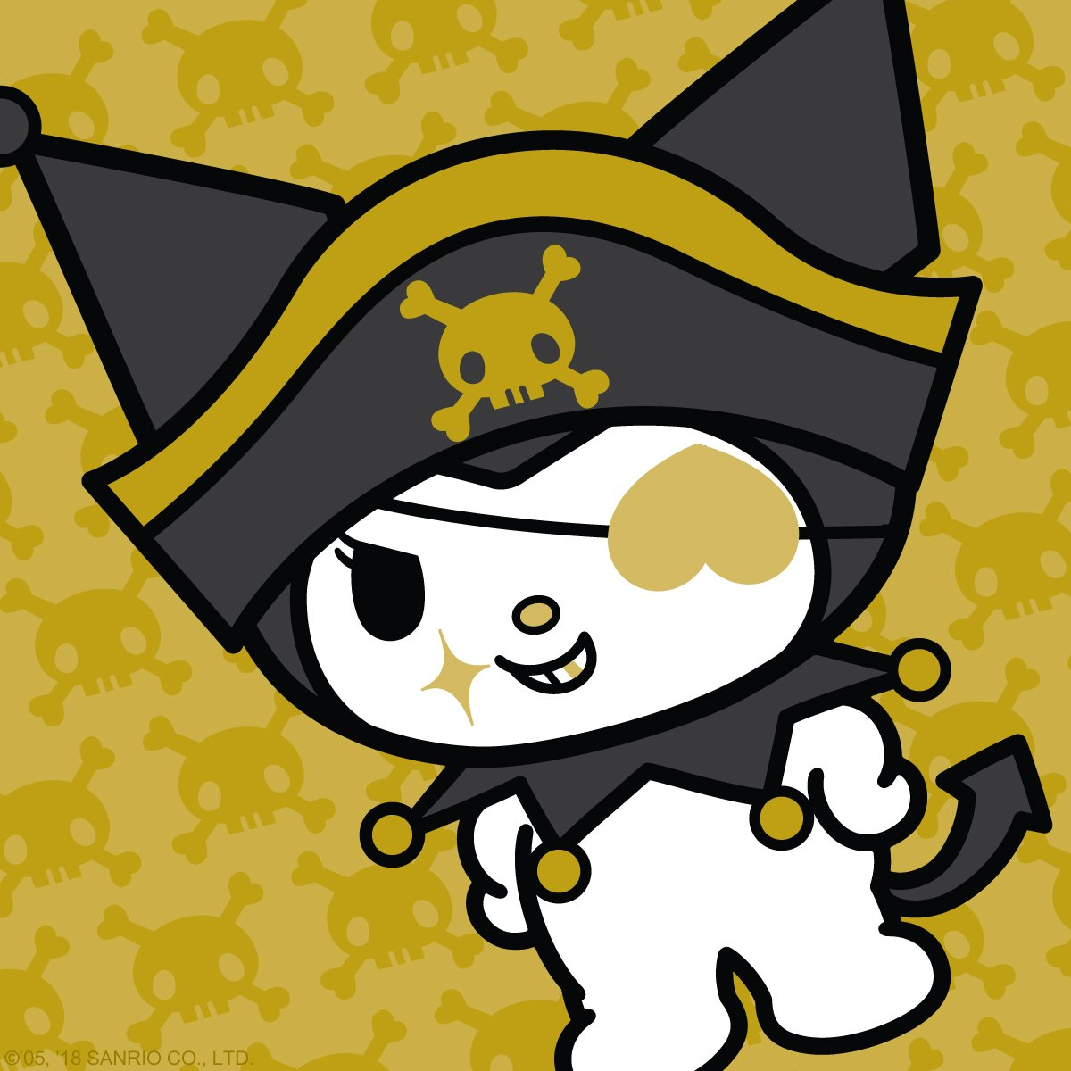 Shiver me timbers, if it ain't #TalkLikeAPirateDay. #Kuromi is on deck to batten down the hatches for all ye scallywags!