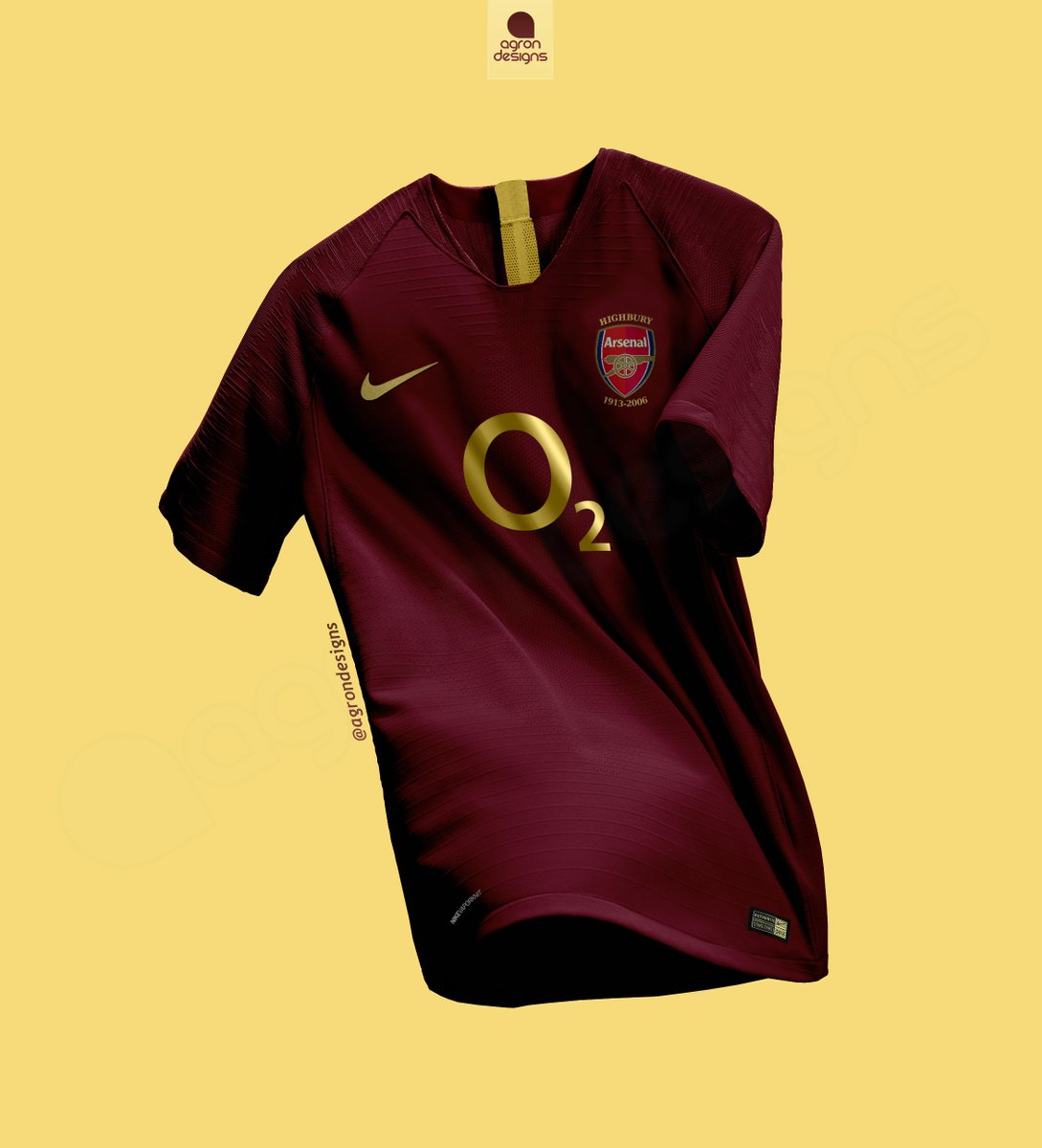 5aaf9f1cdd7 Nike X Arsenal (Home Kit 2005-06 Remake ) #arsenal #kitdesign #highbury # design #kit #concept #gunners #footballkits #thegunners #northlondon  #london ...