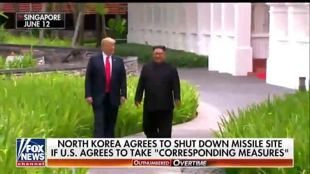 "North Korea agrees to shut down missile site if U.S. agrees to take ""corresponding measures"" #OutnumberedOT https://t.co/XmILCOiFrq"