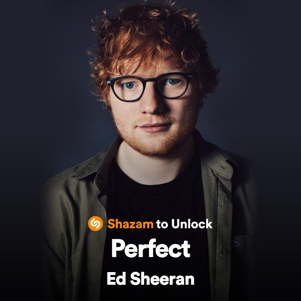 Enter to win a 2018 tour merch bundle from @edsheeran when you Shazam #Perfect 🎶 #ShazamPerfect