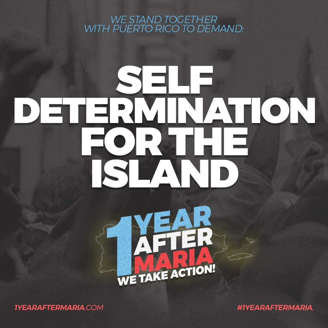To participate in a #1YearAfterMaria demonstration tomorrow near you, visit: 1yearaftermaria.com #PuertoRico #BoricuasRemember #HurricaneMaria @popdemoc @rosaclemente @MMViverito