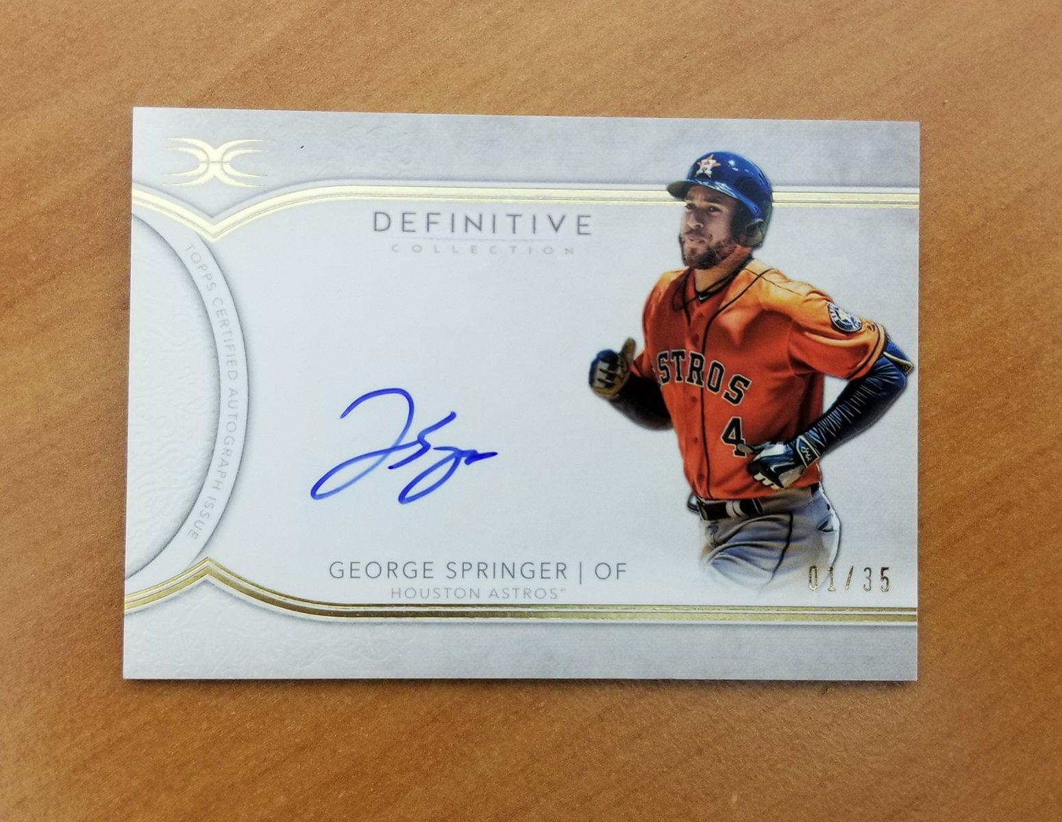 George Springer turns 29 today!     RT and you can win one of these autographed #MLBCards. https://t.co/EUZUShXEOO