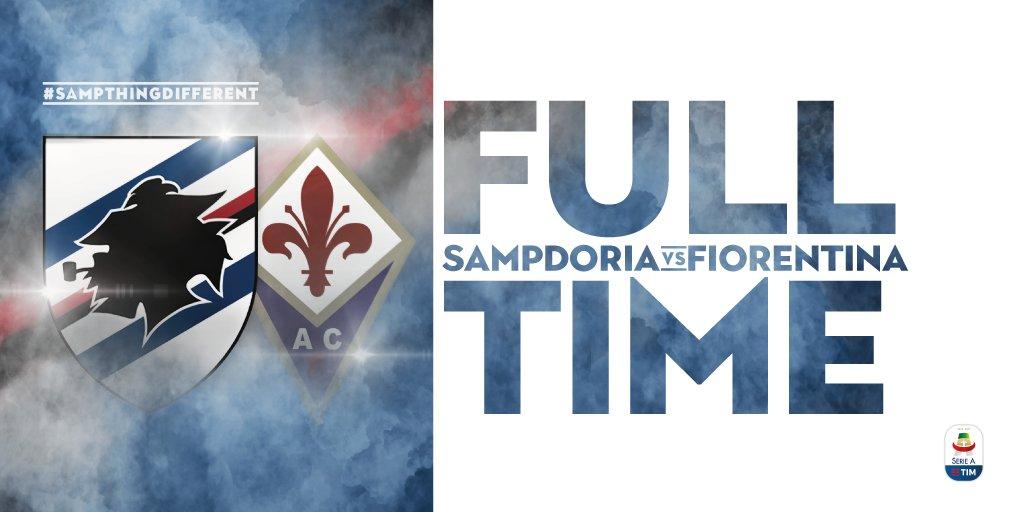 """Triplice fischio al """"Ferraris"""". #SampFiorentina termina in parità, come ai blucerchiati non succedeva da ben undici turni. 1-1 a #Genova.  - Ukustom"""