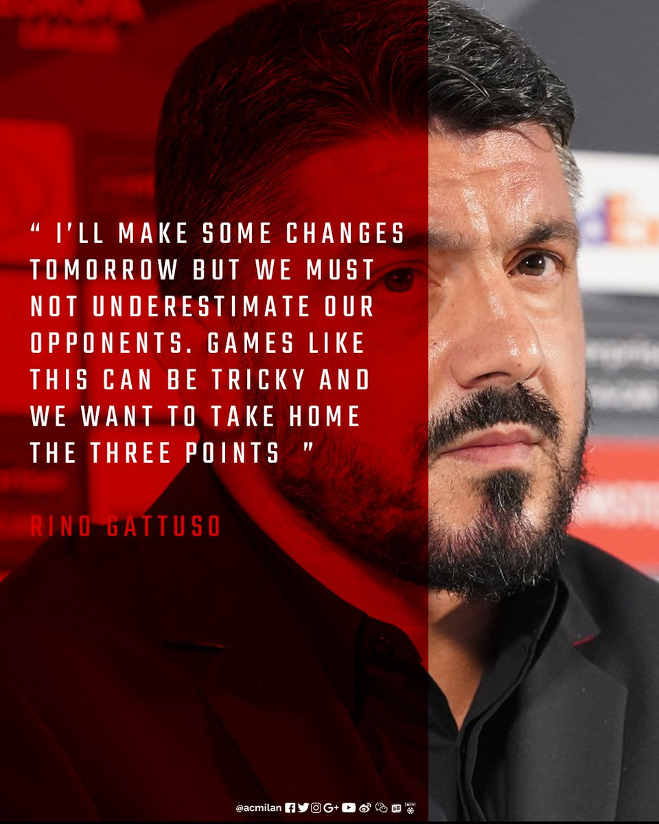🗣️ Read the best bits from the pre-match press conference with coach Rino Gattuso and @ignazioabate20https://t.co/l5vtmVxrLU:#DudelangeMilan #UEL