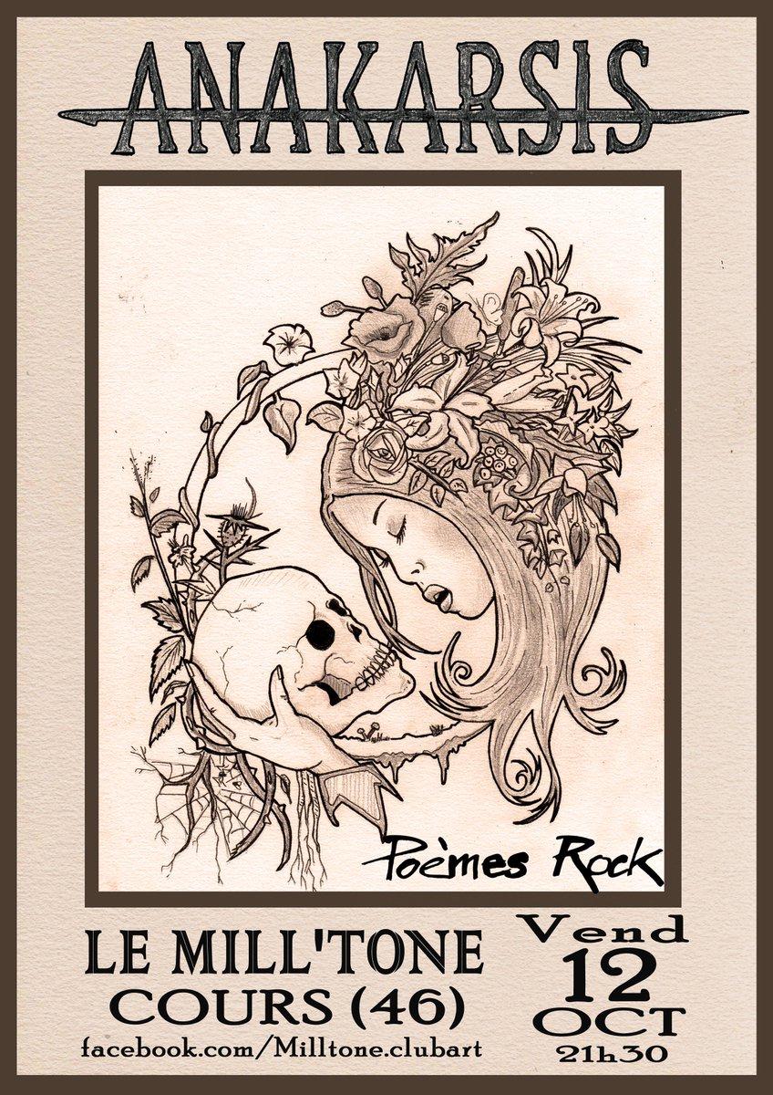 Information à partager @anakarsisband et son répertoire #poèmes #rock sera en concert chez nos amis du #Lot du côté de #Cahors en région #Occitanie le vendredi 12 octobre #baudelaire #lesfleursdumal en #chanson #musiquefrancaise  - FestivalFocus