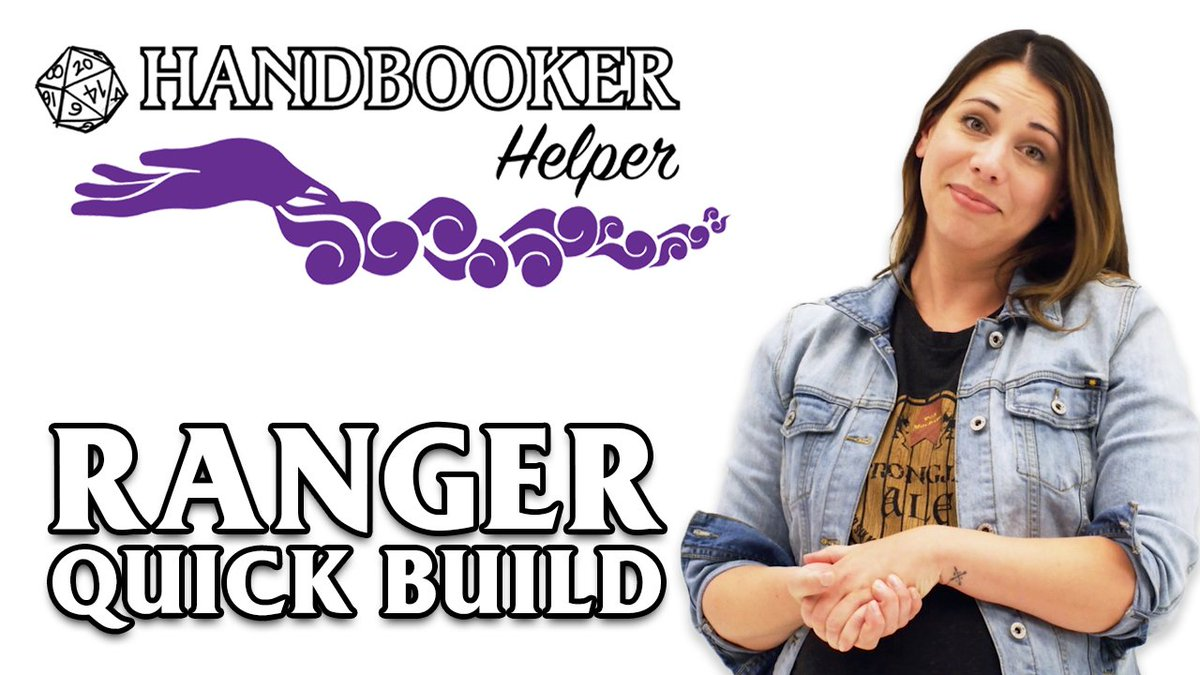 In our latest #HandbookerHelper quick build, @LauraBaileyVO (aka Vexahlia of Vox Machina) dishes up the details behind one of her favorite D&D classes - the Ranger. 🏹🐻👀 youtu.be/ajE6VZIiPmI