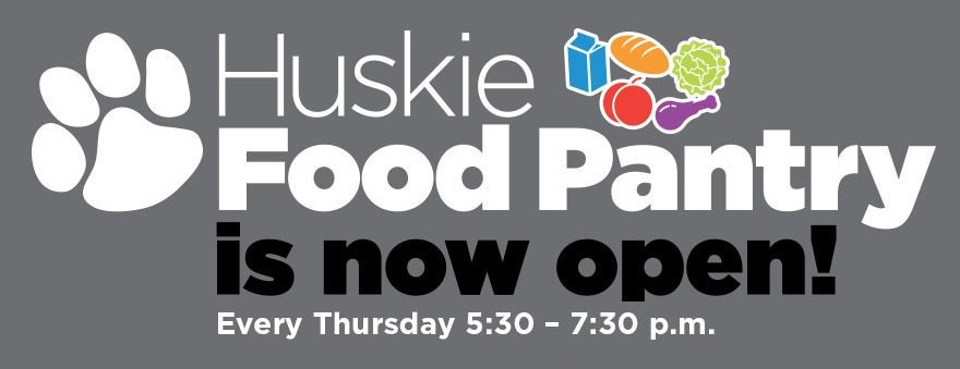 The Huskie Food Pantry is now open every Thurs. from 5:30-7:30 pm for #NIU students. Visit go.niu.edu/foodpantry to learn more.