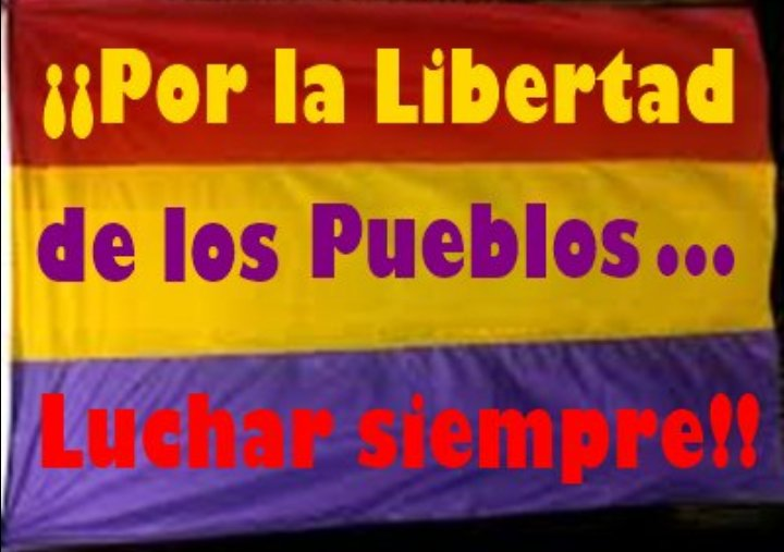 #RepúblicaSinMiedo por la libertad y por la auténtica democracia.