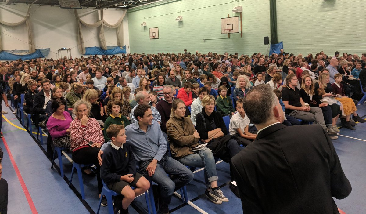 Incredible Open Evening at Beechen Cliff.  A record- breaking near-capacity audience in the Sports Hall for Mr Davies' address.  Thank you to all prospective parents for the great feedback about the evening and the Year 7, Year 8 and sixth form guides.