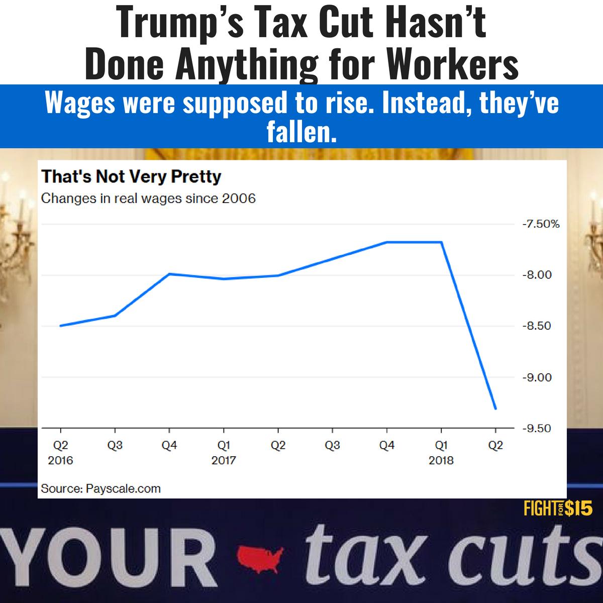 .@realdonaldtrump's tax scam is class warfare in action. https://t.co/QtDK6LZQOW #FightFor15 #TrumpTaxScam