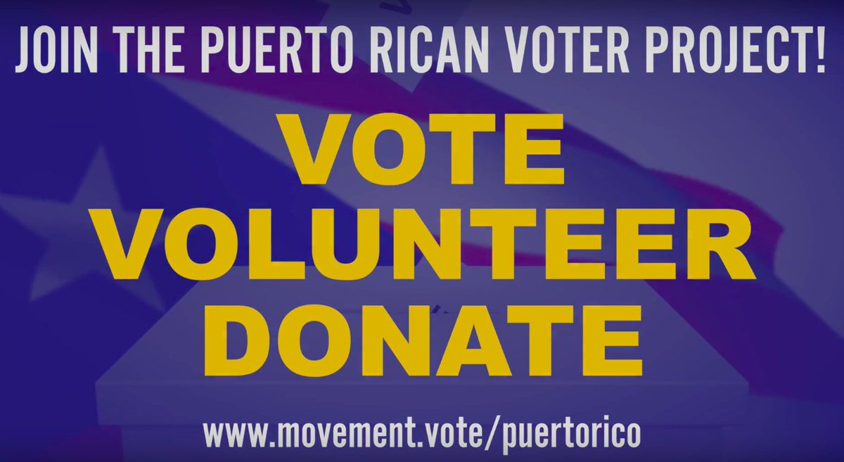 The #puertoricanvoterproject is registering Borinqueños, building power, and ensuring theyre no longer ignored. Learn more: movement.vote/puertorico/ @MovementVote