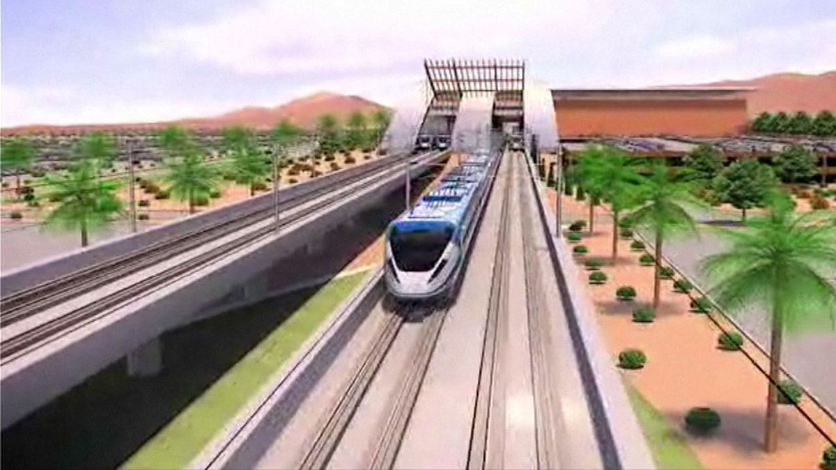 Plan to build high-speed train between SoCal and Las Vegas is back on track after private rail company announces it has taken over project abc7.la/2PQmmm2