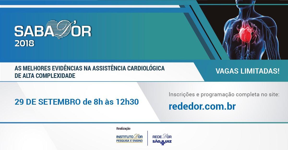 No dia 29 de setembro, o Hospital e Maternidade Brasil (SP) promove encontro que contará com temas voltados para a Cardiologia, como Cardiopediaria e Síndrome Coronária Aguda. As inscrições vão até 27/09 e as vagas são limitadas. Acesse o site: https://t.co/4wF24U6tLi