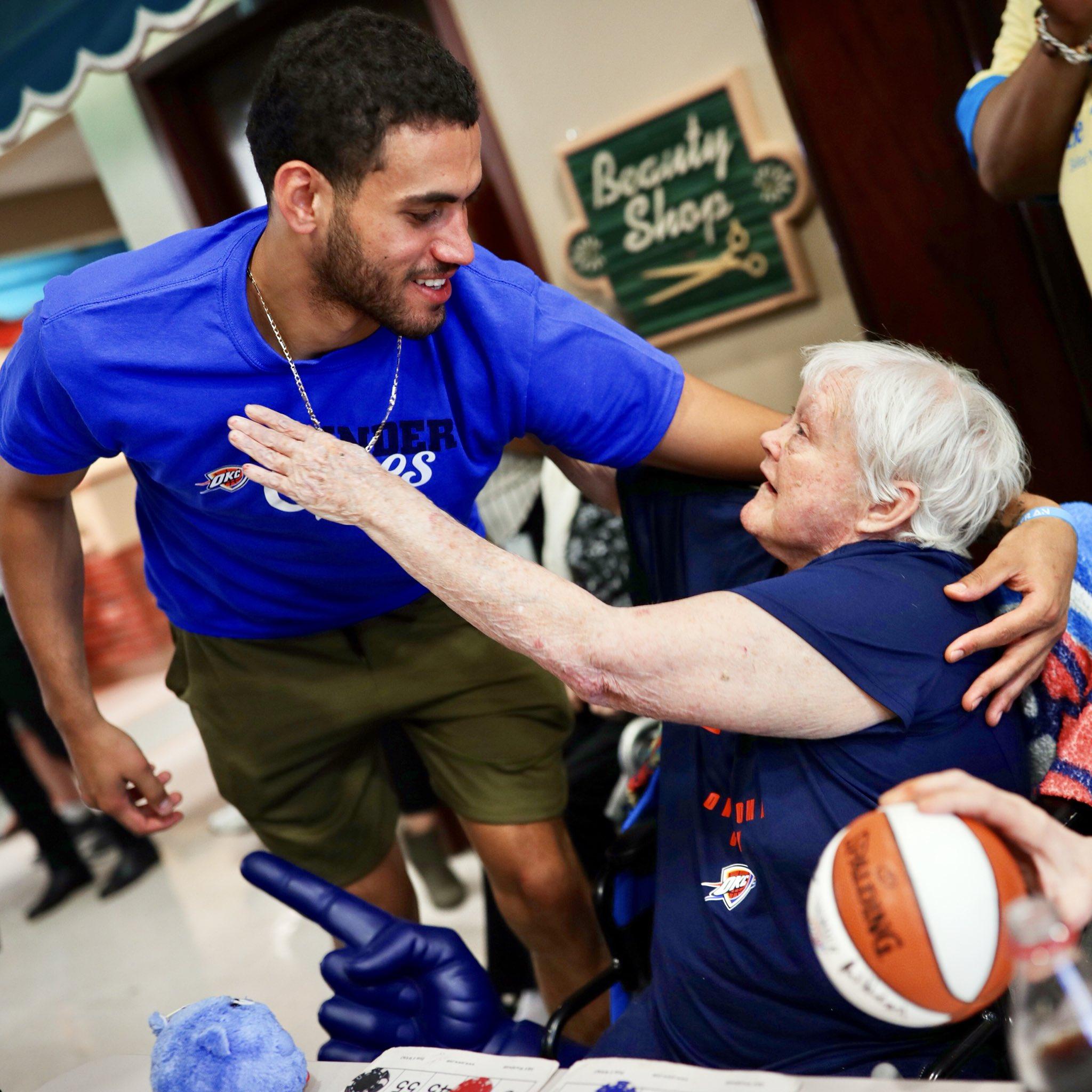BINGO!  @AbdelNader2 and @DeonteBurton spend the afternoon spreading joy at local senior center. #ThunderCares https://t.co/oZ0zzesVe9
