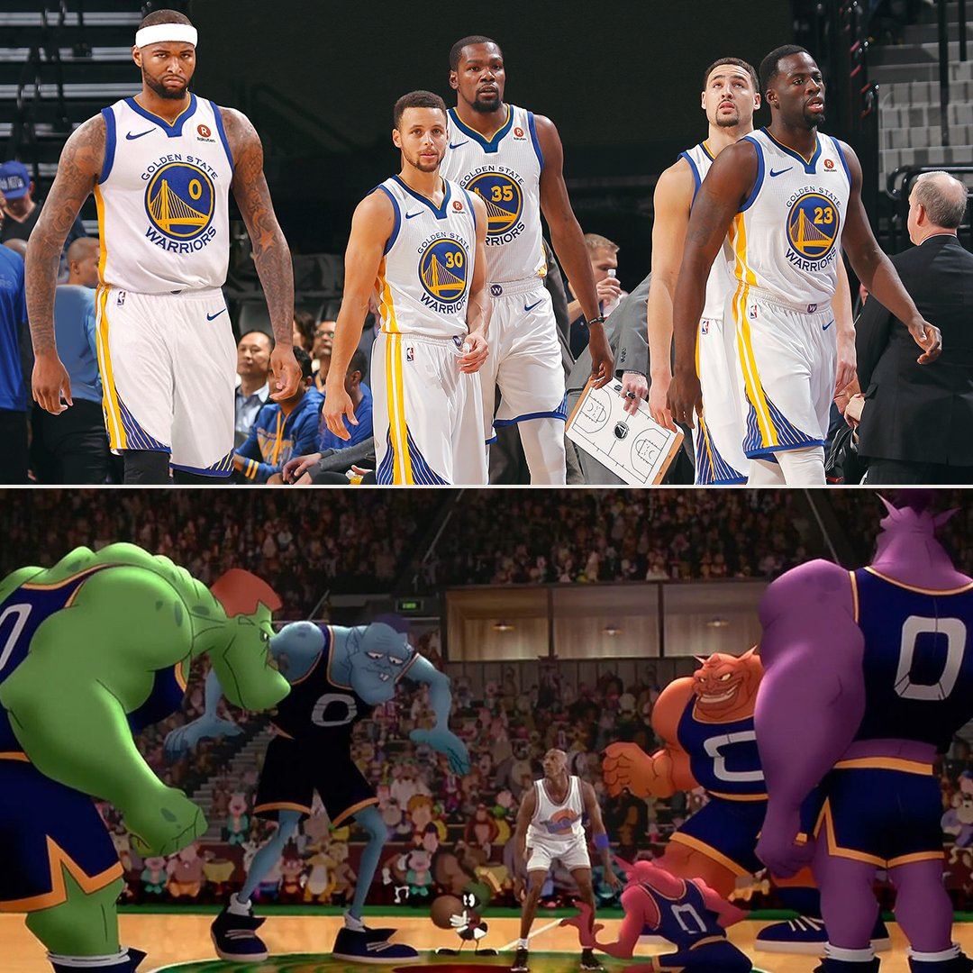 Golden State Warriors. Monstars.  Who's got the best chance at taking down @KingJames and the Looney Tunes? https://t.co/rY2hwigX5y