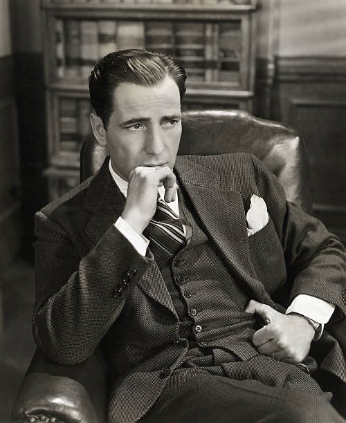 A great photo of style icon Humphrey Bogart.