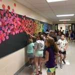 Sward third graders INSPIRED by the messages left by students letting us know how they will make their mark in the world! #d123 #swd123