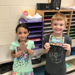 These new friends so excited to be welcomed to Sward with notes on their desks this morning from the Kindness Club! We are all so happy to have new friends! #d123 #swd123 😀 @collurateach