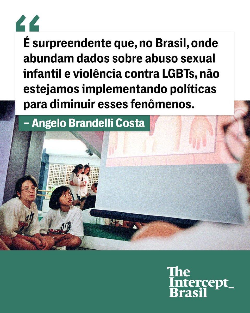 É surpreendente que, no Brasil, onde abundam dados sobre o flagelo do abuso sexual infantil e violência contra LGBTs, não estejamos implementando políticas para diminuir esses fenômenos: https://t.co/nNeDGdVxfB