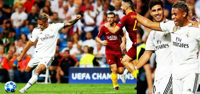 UN JODIDO GOLAZO. El espectacular bombazo con el que Mariano Díaz convirtió en su primer partido como 7 del Real Madrid: Photo